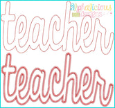 Teacher Applique