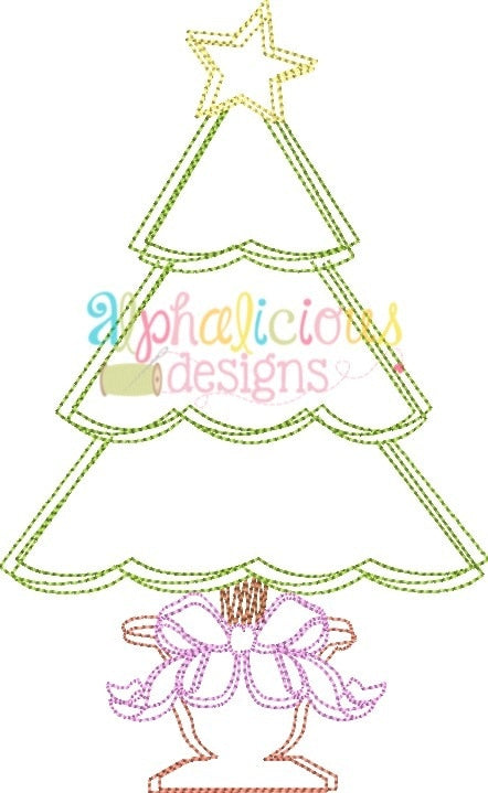 Fancy Scribble Holiday Tree-Vintage Scribble - Alphalicious Designs