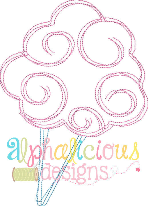 Super Sweet Cotton Candy-Scribble Vintage - Alphalicious Designs