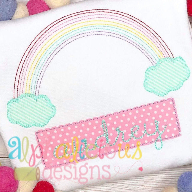 Vintage Rainbow Applique-Blanket - Alphalicious Designs