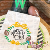 Preppy Girl Football Frame