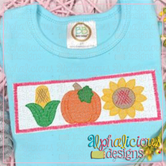 Pumpkin Patch Three in a Row- Faux Smocked
