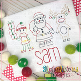 Santa's Helper Trio-Vintage
