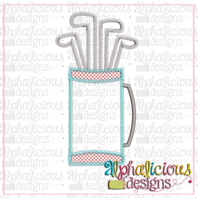 Golf Bag-ZigZag - Alphalicious Designs