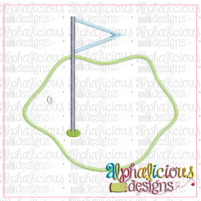 Golf Green-Zig Zag - Alphalicious Designs