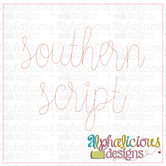 Southern Script Embroidery Font