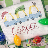 Cozy Coupe Christmas Crew-Sketch