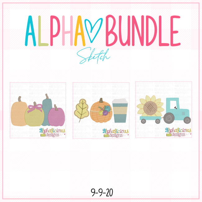 ALPHA BUNDLE-9/9/20 Release-Sketch - Alphalicious Designs