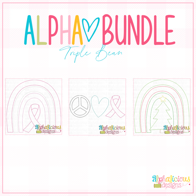 ALPHA BUNDLE-10-9-20 Release-Triple Bean Stitch - Alphalicious Designs