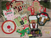 Christmas In the Hoop Ornament Bundle #2