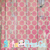 Backdrop- Distressed Wood-Polka Dot-Pink