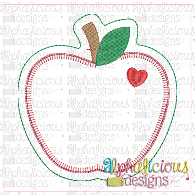 Apple Ornament - Alphalicious Embroidery Designs