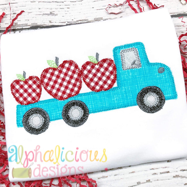 Apple Pickin Flat Bed Truck-Blanket - Alphalicious Embroidery Designs