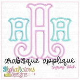 Arabesque Applique Monogram Font-ZigZag
