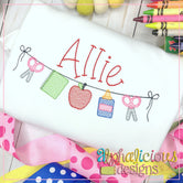 Back to School Bunting-Sketch