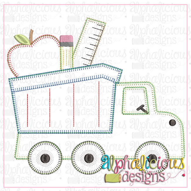 Back To School Dump Truck-Blanket - Alphalicious Designs