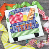 Back To School Farm Truck-Blanket