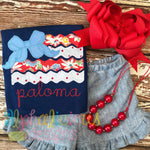 Big Bow Patriotic Flag - Blanket - Alphalicious Embroidery Designs