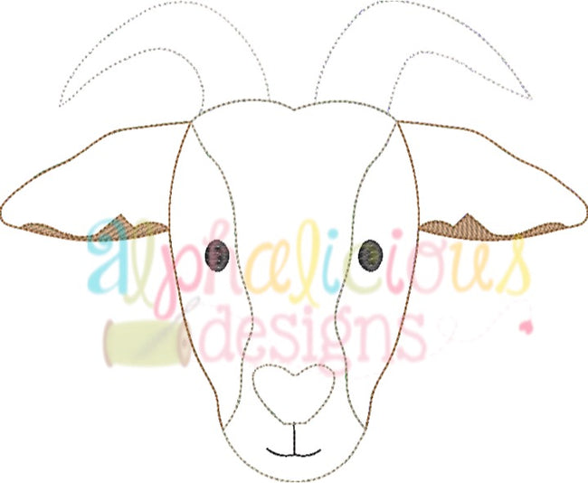 Billy Goat-Triple Bean - Alphalicious Embroidery Designs