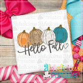 Hello Fall with Heart-Printable