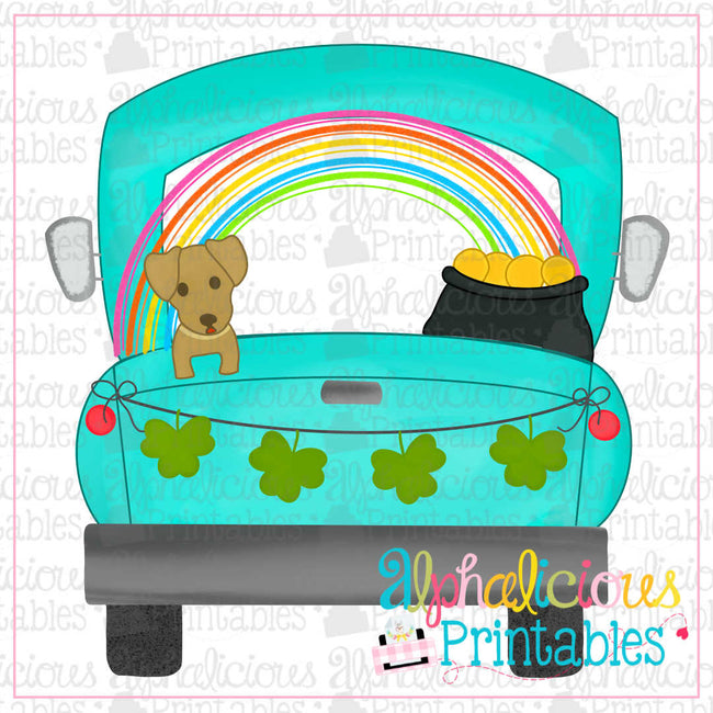 Farm Truck-Shamrocks-Printable