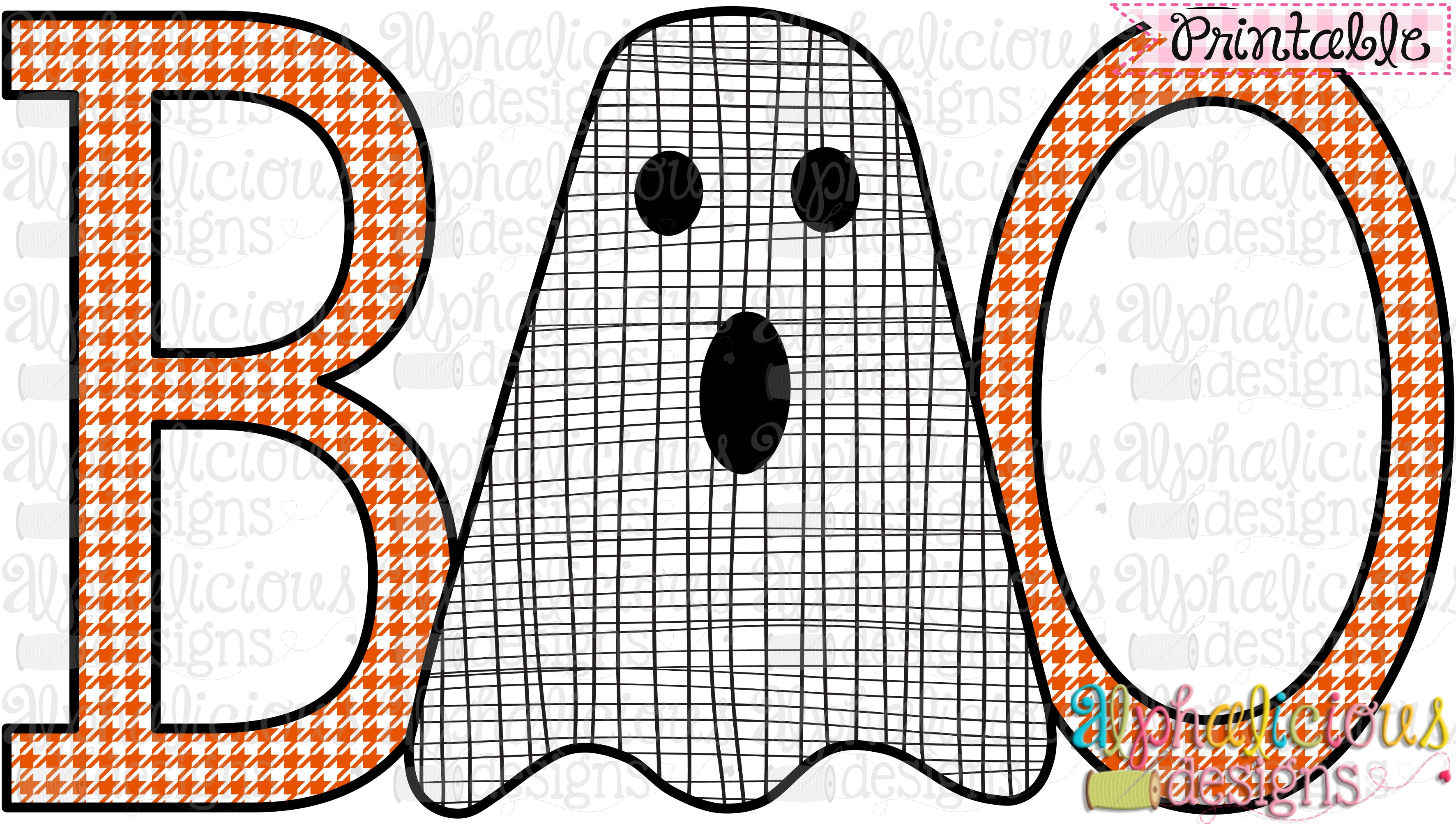 graphic about Boo Printable titled Boo-Printable