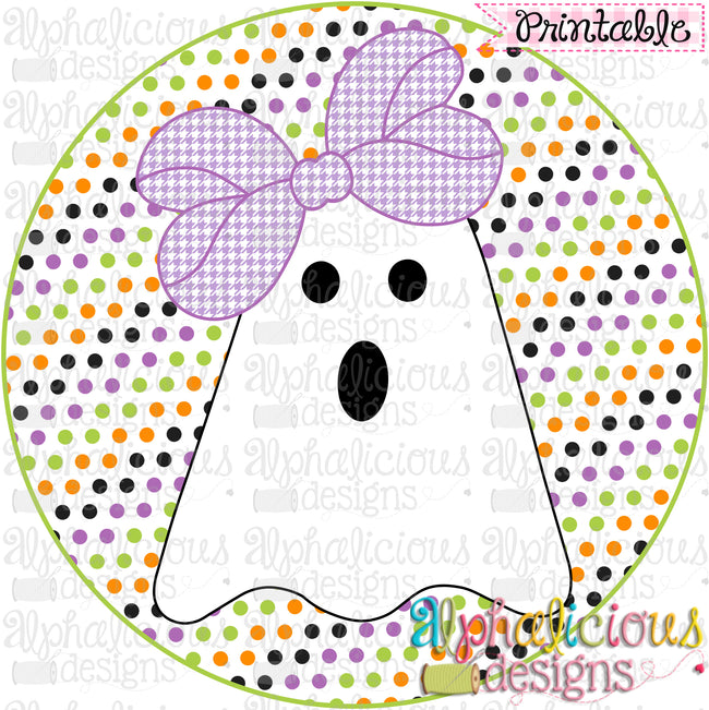 Boo-tiful Ghost Girl-Printable - Alphalicious Designs