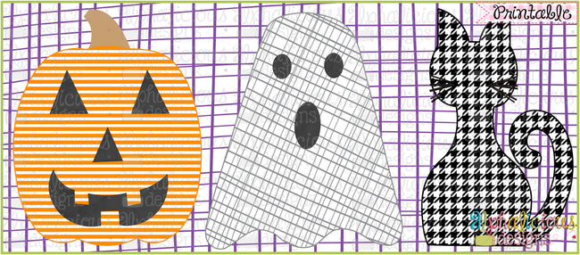 Boo Crew-Printable - Alphalicious Embroidery Designs