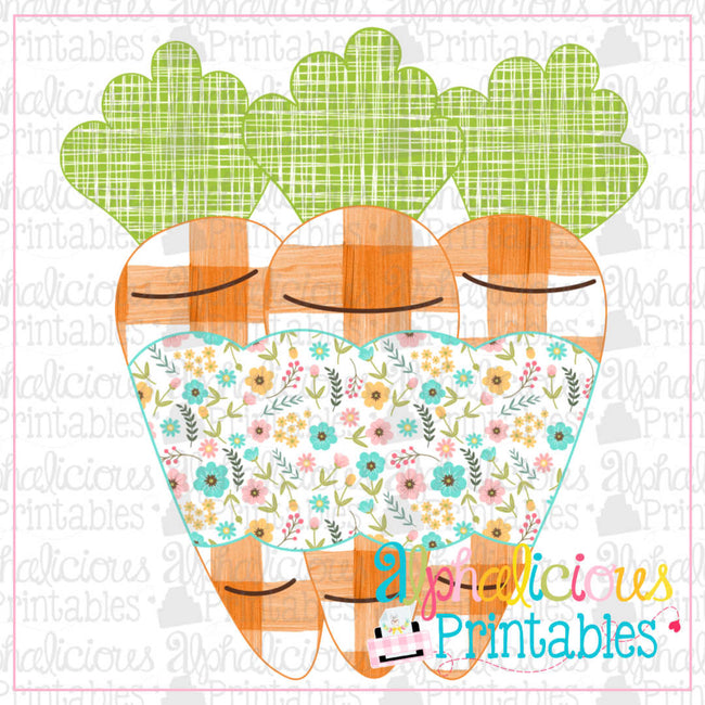 Carrots with Banner-Floral-Printable - Alphalicious Designs