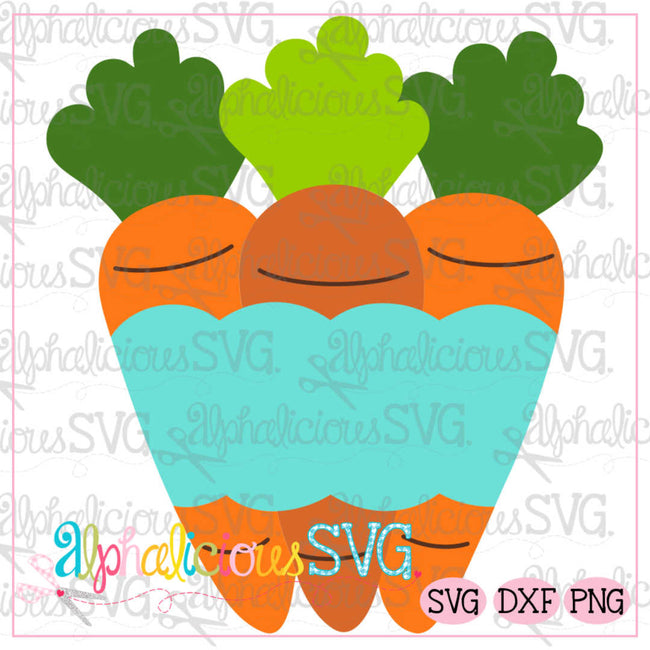 Carrots with Banner SVG - Alphalicious Designs