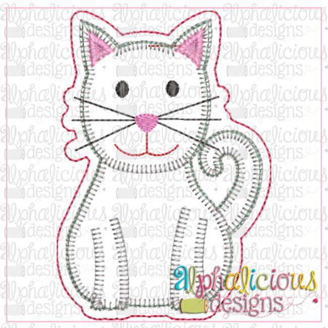 Cat-ITH Ornament-Alphalicious Designs - Alphalicious Embroidery Designs