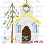 Christmas Church- SVG