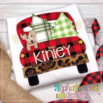 Christmas Dog Truck-Girl-Blanket - Alphalicious Designs