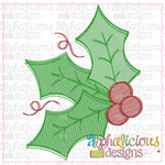 Christmas Holly-sketch - Alphalicious Designs