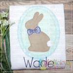 Classic Bunny In Oval Frame-Triple Bean
