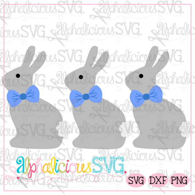 Classic Bunny Three In a Row SVG - Alphalicious Designs