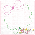 Clover with Bow-Triple Bean - Alphalicious Designs