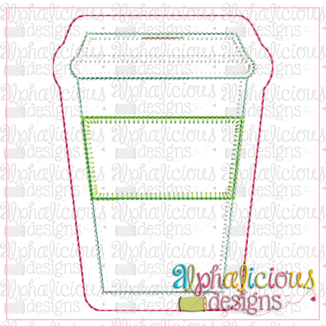 Coffee-ITH Ornament-Alphalicious Designs - Alphalicious Embroidery Designs