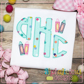 Jon Jon Applique Monogram Font-Triple Bean
