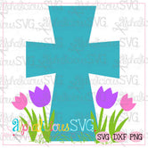 Cross with Flowers- SVG