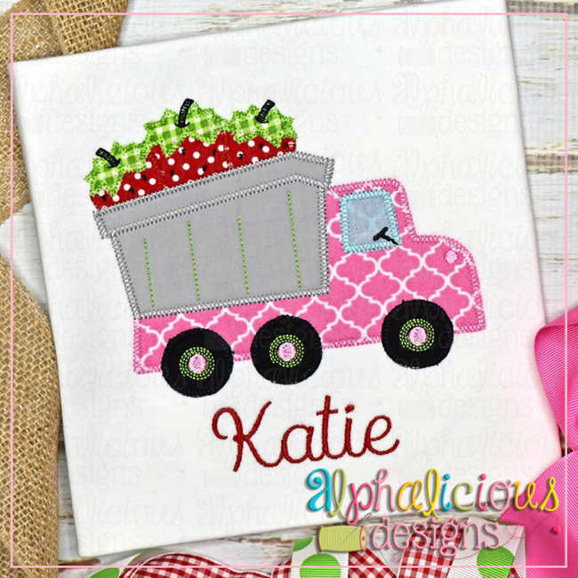 Dump Truck With Strawberries-Blanket