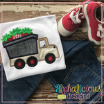 Dump Truck With Strawberries-Satin - Alphalicious Designs