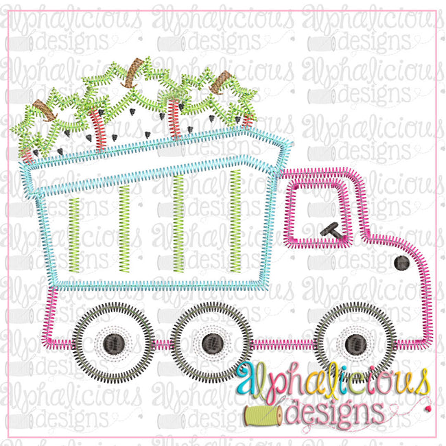 Dump Truck With Strawberries-Zig Zag