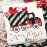 Dump Truck with Hearts-Blanket