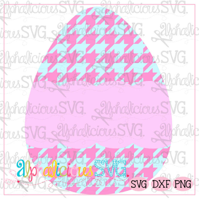 Egg with Scallop Banner-Houndstooth-SVG - Alphalicious Designs