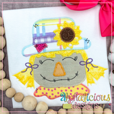 Fall Scarecrow with Sunflower- Zig Zag