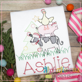 Farm Animal Christmas Tree Lighting - Sketch