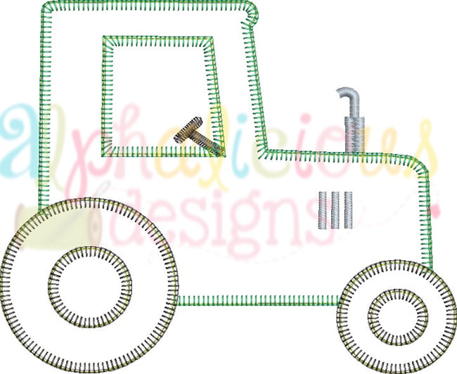 Farm Tractor-Blanket - Alphalicious Embroidery Designs