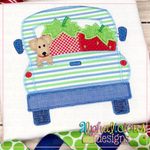 Farm Truck with Strawberries and Pup-Zig Zag - Alphalicious Designs