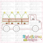 Flatbed Tree Truck-Triple Bean - Alphalicious Designs